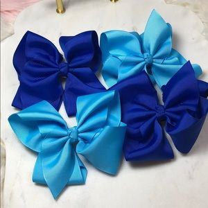 Other - NEW Set of 4 4.5 inch Preppy Cheer hair Bows